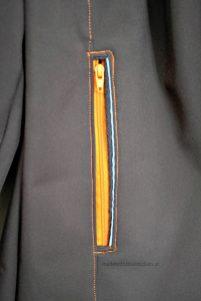 Detail Reissverschluss an der Tasche