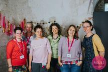 Die Bloggerinnen an unserem Tisch: Martina, Geraldine, Michaela, Birgit, Kathrin, Gabi. Foto: Bernadette Burnett