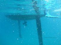 Meerjungfrau - Schiff von unten