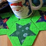 Weihnachtliche Stern-Filz-Unterssetzer