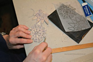 Ein Blumen-Mandala-Motiv einer anderen Teilnehmerin