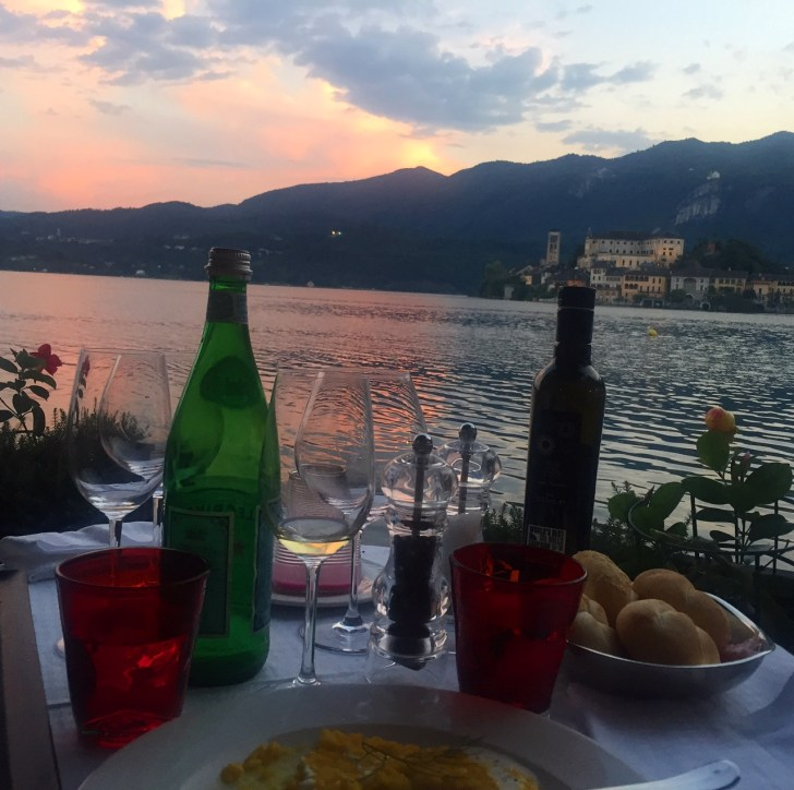 Postkort fra Ortasøen i Piemonte