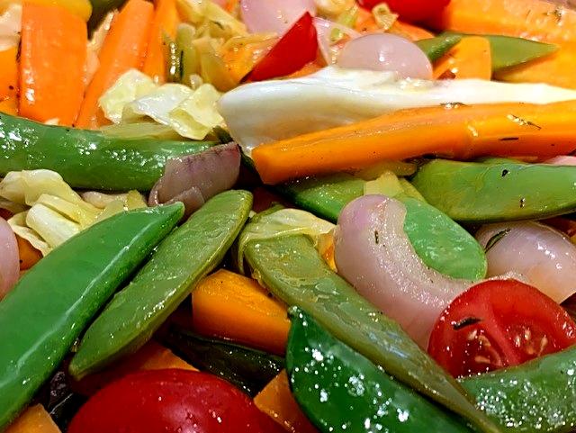 Glaserede grøntsager