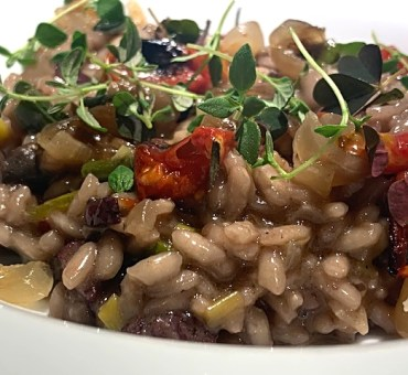 Lækker italiensk risotto med salsiccia