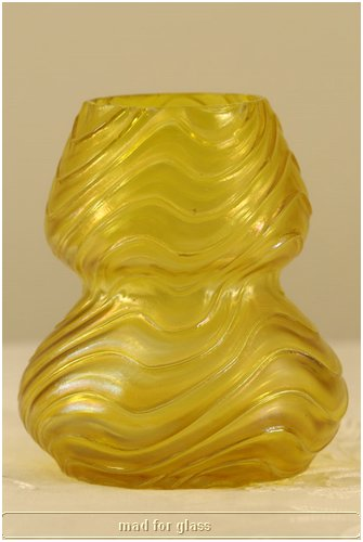 KRALIK IRIDESCENT YELLOW GLASS WITH WAVES