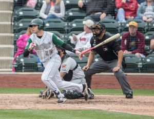 Padres prospect Hudson Potts bats for the Fort Wayne Tincaps
