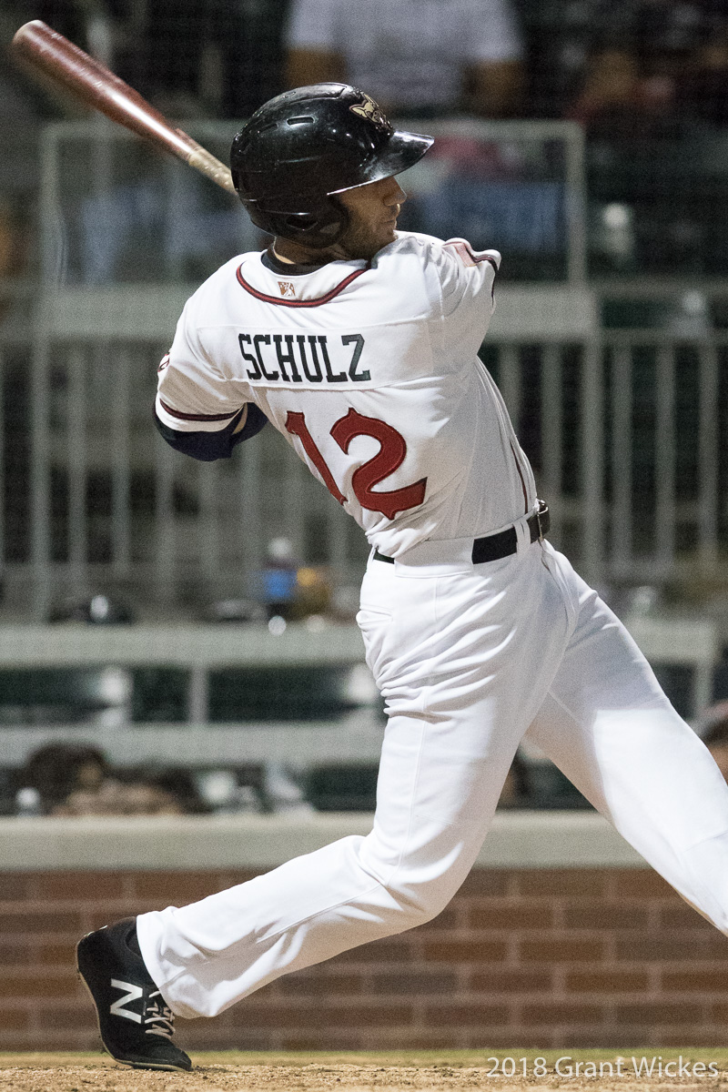 Padres prospect Nick Schulz swings for El Paso Chihuahuas