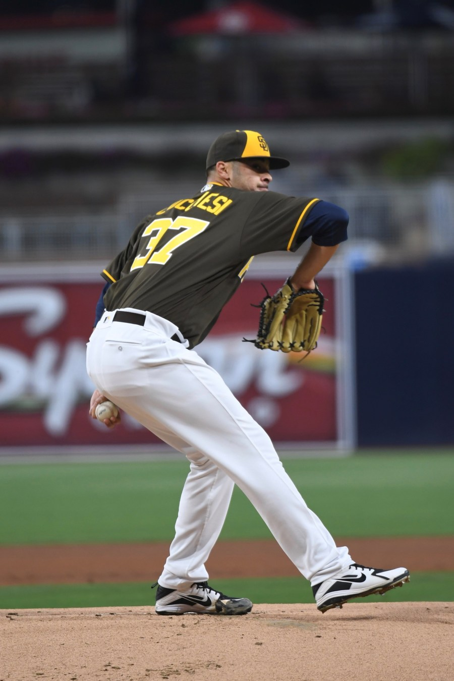 San Diego Padres pitcher Joey Lucchesi