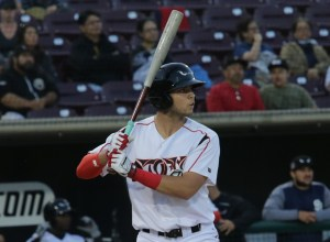 Padres prospect Hudson Potts bats for the Lake Elsinore Storm