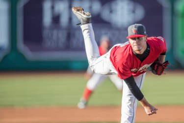 Padres prospect Mason Thompson pitches for the Fort Wayne TinCaps
