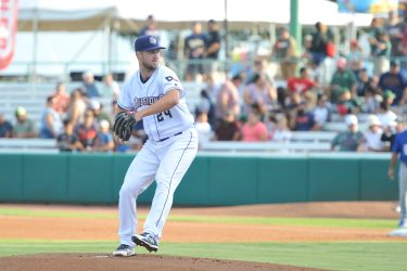 Padres pitcher Colin Rea pitches for San Antonio Missions