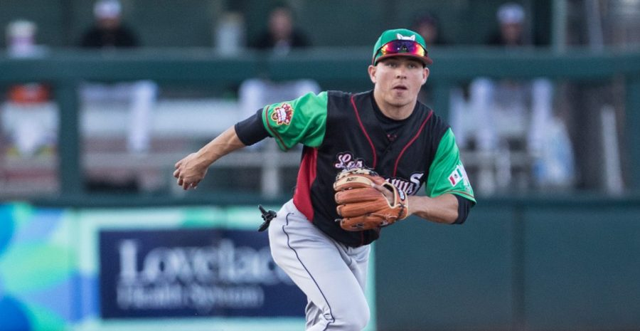 Padres prospect Luis Urias for the El Paso Chihuahuas