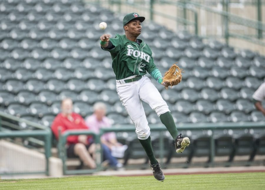 Padres prospect Esteury Ruiz for the Fort Wayne TinCaps