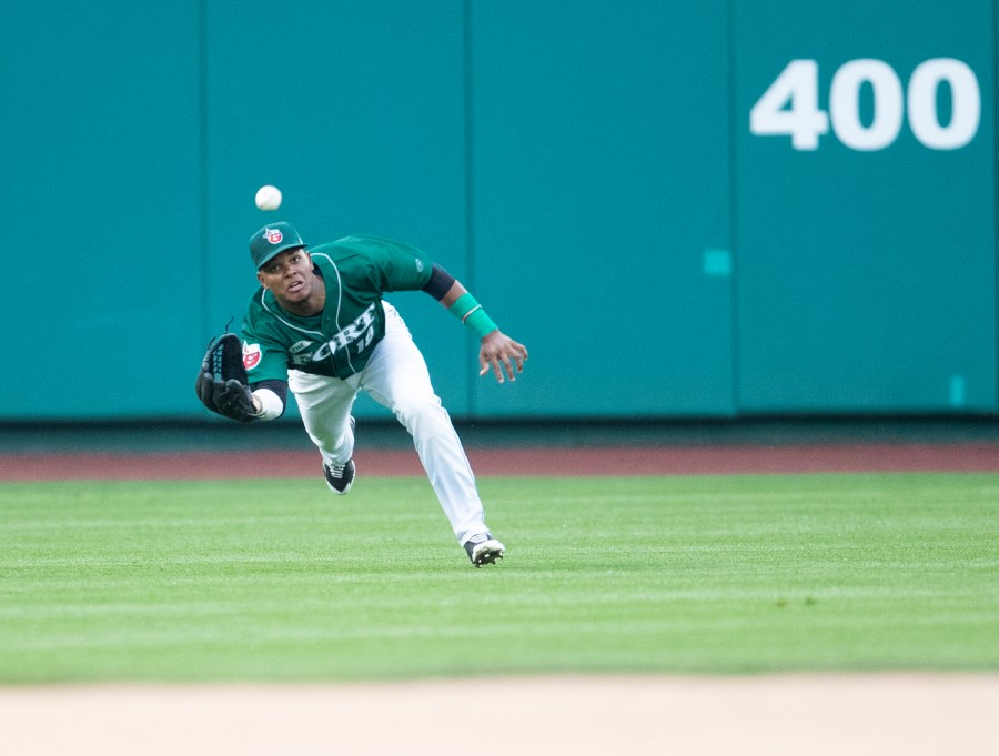 Padres prospect Jeisson Rosario ranges the outfield for Fort Wayne TinCaps