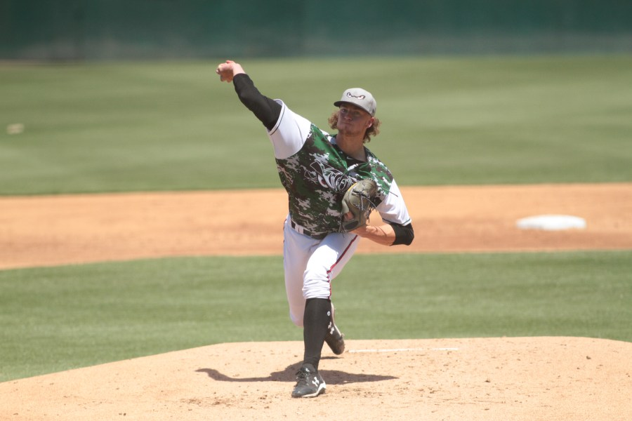 Padres top prospect Chris Paddack pitches for Lake Elsinore Storm.
