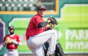 Nick Margevicius, San Diego Padres prospect pitching for Fort Wayne TinCaps