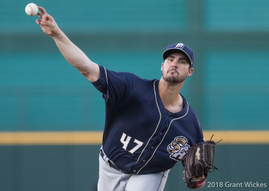 Padres prospect Jacb Nix pitching for San Antonio Missions