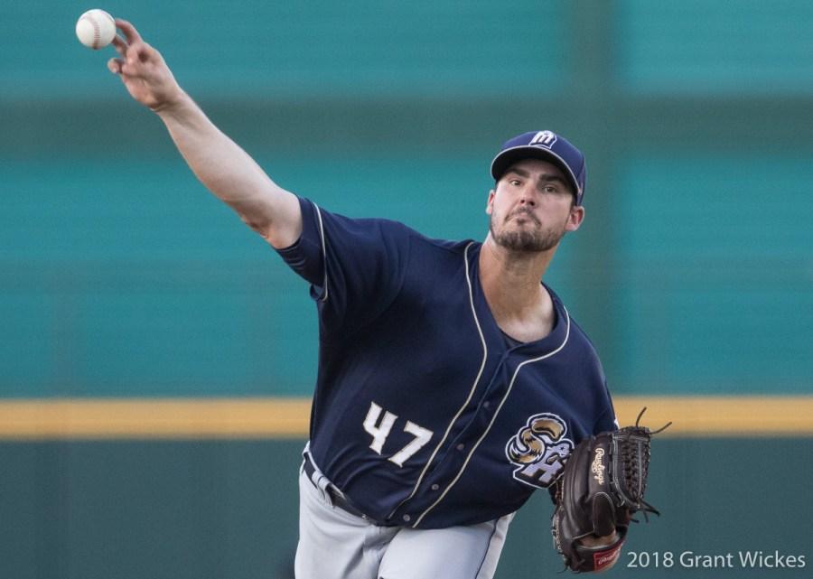 Padres prospect Jacb Nix pitching for San Antonio Missions