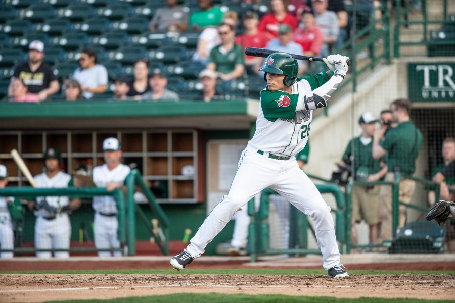 San Diego Padres prospect Tirso Ornelas hits for the Fort Wayne TinCaps