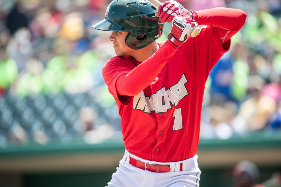 Padres prospect Justin Lopez bats for the Fort Wayne TinCaps
