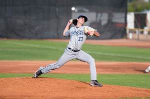 Padres prospect Sam Keating pitches for Tri-City Dust Devils