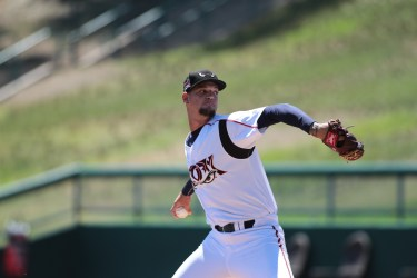 Padres prospect Michel Baez pitches for Lake Elsinore Storm