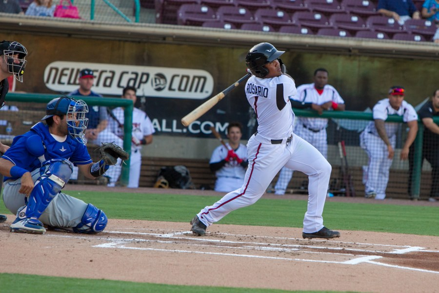 Padres prospect Eguy Rosario bats for Lake Elsinore Storm