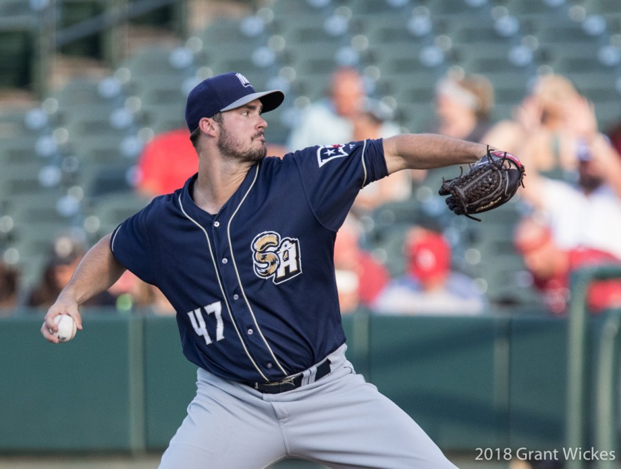 Padres prospect Jacob Nix pitches for San Antonio Missions