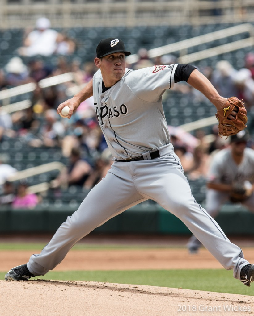 Padres prospect Kyle Lloyd pitches for El Paso Chihuahuas