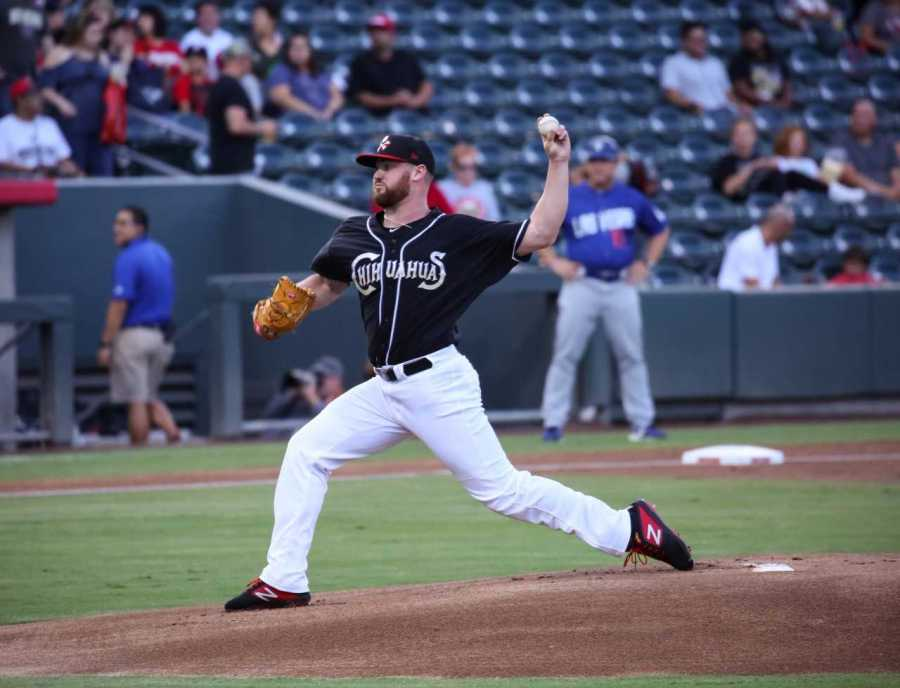 Logan Allen Padres prospect pitching for El Paso Chihuahuas