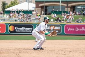 Owen Miller, San Diego Padres prospect fields for Fort Wayne TinCaps