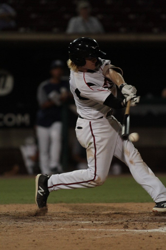 Padres Prospect Chris Baker Bats for Lake Elsinore Storm