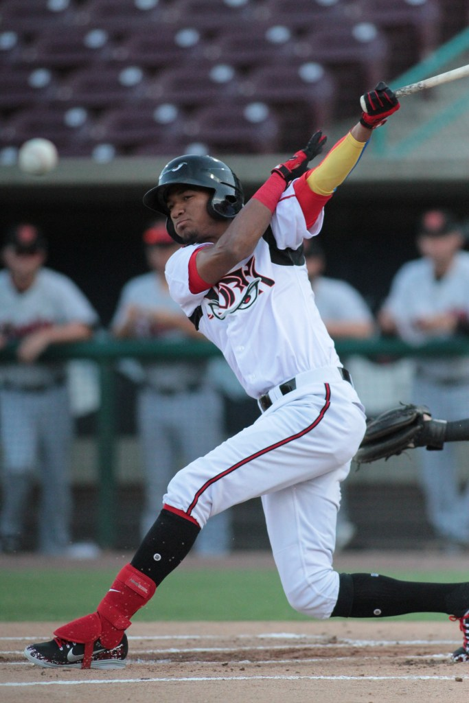 Edward Olivares Padres prospect batting for Lake Elsinore Storm