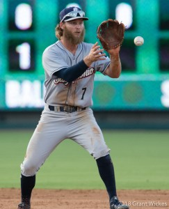 Padres prospect River Stevens defensively for San Antonio Missions
