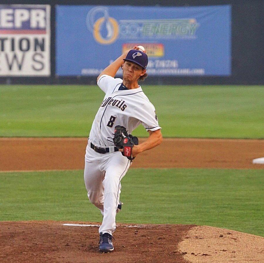 Cole Bellinger Padres prospect pitching for Tri-City Dust Devils
