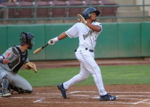 Padres prospect Xavier Edwards bats for Tri-City Dust Devils