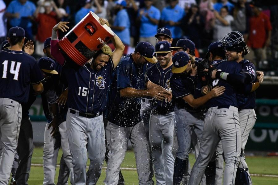 San Antonio Missions celebrate winning the Texas League Division Series