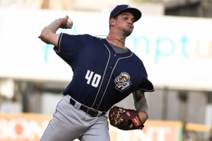 Michel Baez Padres prospect pitching for San Antonio Missions