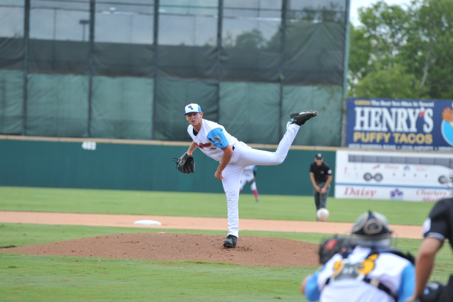 Nick Margevicius, Padres prospect pitching for San Antonio Missions.