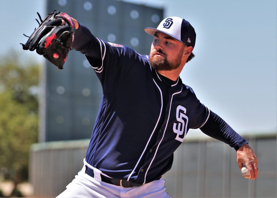 Padres pitcher Logan Allen in Spring Training 2019