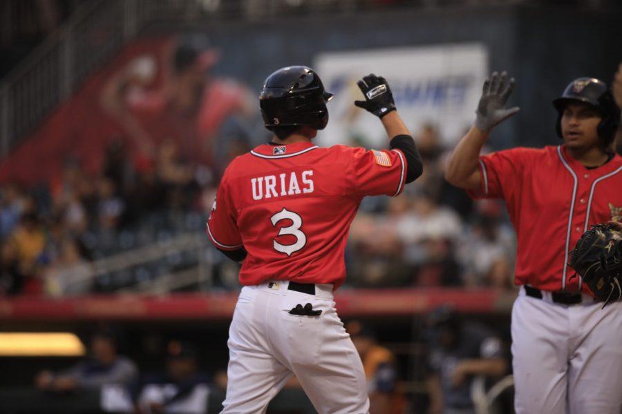 Luis Urias, Padres prospect batting for El Paso
