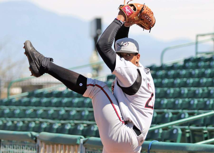 Padres pitching prospect Luis Patino pitches for Lake Elsinore Storm