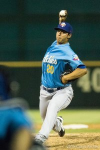 Munoz delivers a pitch Friday night