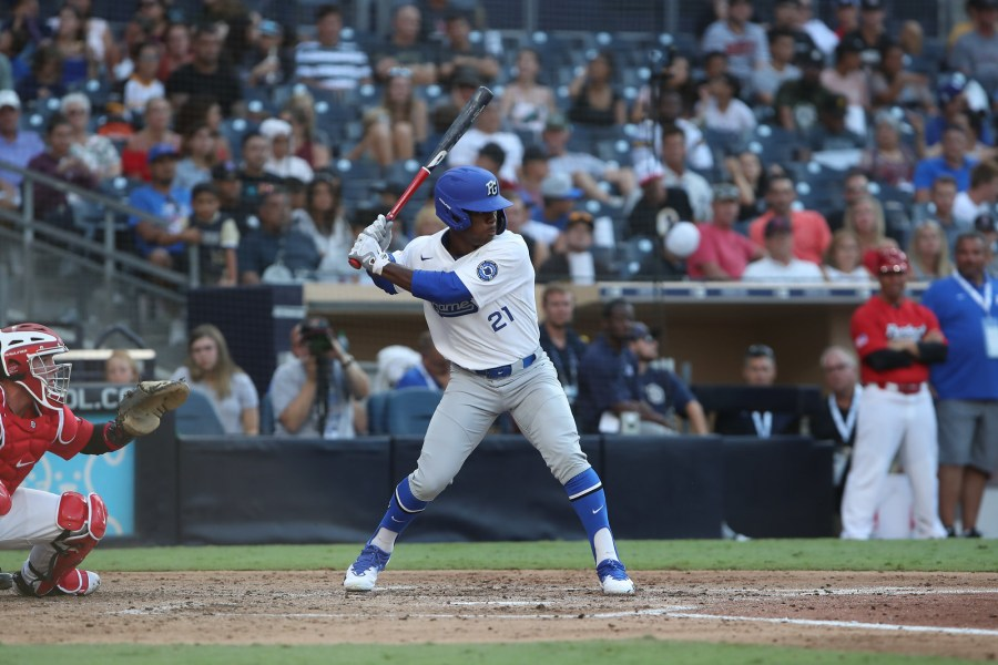 Maurice Hampton made an impact at the Perfect Game All-American Classic