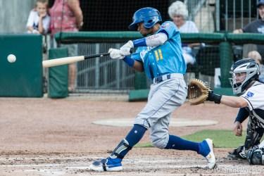 Padres prospect Edward Olivares bats for Amarillo Sod Poodles