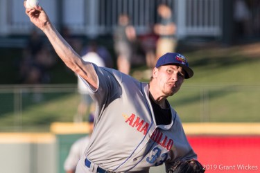 Padres pitching prospect Lake Bachar for Amarillo Sod Poodles