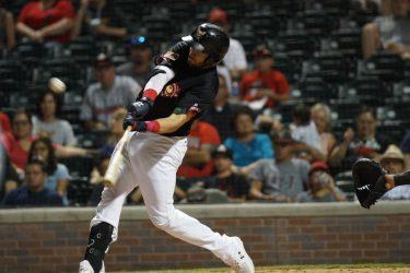 Austin Allen bats for El Paso Chihuahuas