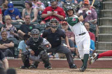 Justin Lopez Padres prospect batting for Fort Wayne Tincaps