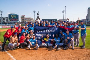The Amarillo Sod Poodles celebrate their 2019 Texas League Championship