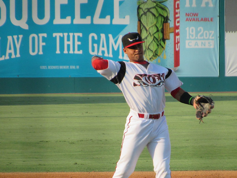 Padres prospect Euribiel Angeles plays for the Lake Elsinore Storm